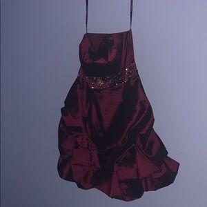 Homecoming dress plum
